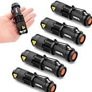 Belysning LED Lommelygter LED 2000 Lumen 3 Tilstand Cree XR-E Q5 14500 AAJusterbart Fokus Vanntett Nedslags Resistent Zoombar Slag Kant