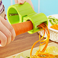 3 in 1 Amphibious Grater Shredder Spiral Cutter+Sharpener Shred Vegetables Device Tools Random Color
