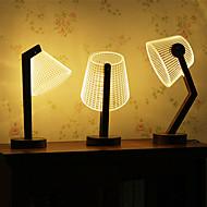 créatif lampe chaude de table de bureau de lumière blanche 3d illusion 0.5w (110-220V)