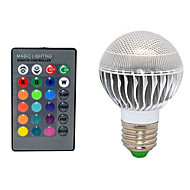 1pcs E27 10W 72LM 2800-3500/6000-6500K Color-Changing Remote-Controlled Globe Bulbs AC 220V