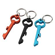 nøgle formet oplukker nøglering (tilfældig farve)