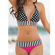 Europe Sexy Swimwear Cute Polka Dot Bikini Foreign Split Swimsuit Hanging Neck Straps Ms.