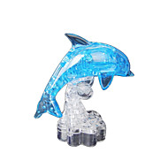 Jigsaw Puzzles 3D Puzzles / Crystal Puzzle Building Blocks DIY Toys Dolphin ABS Blue Model & Building Toy