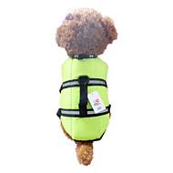 개 조끼 / 구명 조끼 오렌지 / 그린 강아지 의류 여름 / 모든계절/가을 방수