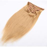 Clip-in Haarverlängerung natürliches menschliches Haar weich brasilianisches Haar Produkt mit Clip in - 20 Farben erhältlich