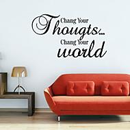 chang Ihre Welt Romantik Abziehbilder Wandaufkleber Zitat Wand