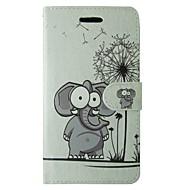 Για Samsung Galaxy Θήκη Θήκη καρτών / Πορτοφόλι / με βάση στήριξης / Ανοιγόμενη tok Πλήρης κάλυψη tok Ελέφαντας Συνθετικό δέρμα SamsungJ1
