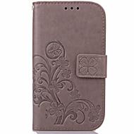 Varten Samsung Galaxy kotelo Korttikotelo / Lomapkko / Tuella / Flip / Koristeltu Etui Kokonaan peittävä Etui Kukka Tekonahka varten