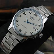 Masculino Relógio Elegante / Relógio de Moda / Relógio de Pulso Automático - da corda automáticamente Calendário Aço Inoxidável Banda