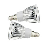 2 pcs  E14 9W 1X COB 50-150LM 2800-3500/6000-6500K Warm White/Cool White Spot Lights AC 85-265V