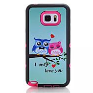 Varten Samsung Galaxy Note Iskunkestävä / IMD / Kuvio Etui Takakuori Etui Pöllö PC Samsung Note 5