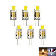 6pcs / lot g4 2w 1cob 100-150 lm dimbaar warm / cool wit mr11 LED tweedelig licht dc / ac 12 v
