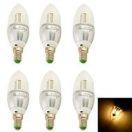 YouOKLight Luzes de LED em Vela Decorativa E14 3W 250 lm 3000K K Branco Quente 32 SMD 3014 6 pçsAC 85-265 / AC 220-240 / AC 100-240 / AC