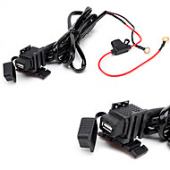 jtron vanntett bil USB-telefon / navigasjon billader - svart
