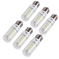 YouOKLight® 6PCS E14/E27 4W 280lm CRI>80 3000K/6000K 69*SMD5730 LED Light Corn Bulb (110-120V/220-240V)