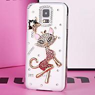 Luxus Kunststoff Diamant Blick zurück Abdeckung für Samsung-Galaxie s5