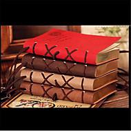 320 pagina's korea retro europese imitatie leren oppervlak creatieve notebook (willekeurige kleur)