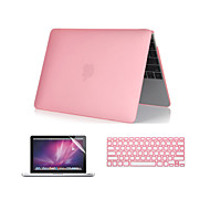 """3 i 1 krystalklar soft-touch tilfældet med tastatur cover og skærmbeskytter til MacBook Pro 13 """"/ 15 ''"""