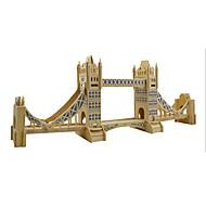 Jigsaw Puzzles 3D Puzzles / Wooden Puzzles Building Blocks DIY Toys Famous buildings Wood Beige Model & Building Toy