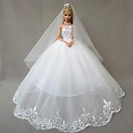 Mariage Robes Pour Poupée Barbie Blanc Robes Pour Fille de Doll Toy