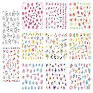 Nail Art Nail Sticker Tipsy typu Full Nail / Folie transferowe Woda / Biżuteria na paznokcie