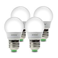 IENON®  4 pcs  3W E26/E27 LED Globe Bulbs G60 6 SMD 210-240 lm Warm White / Cool White Decorative AC 100-240 V
