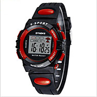 SYNOKE Dziecięce Sportowy Zegarek na nadgarstek Zegarek cyfrowy Cyfrowe LCD Kalendarz Chronograf Wodoszczelny alarm Świecący PU Pasmo
