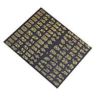 108pcs/sheet Hot Gold 3D Nail Art Stickers Decals