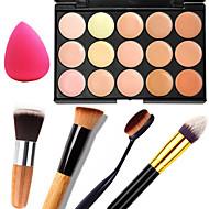 15 Concealer/Contour+ConcealerPulver Puff/Skønhedsblender / Makeupbørster Våd / Mat / Glans Ansigt / BodyFugt / Solbeskyttelse / Dekning