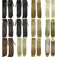 Lintrekstring ponytails haarstukje clip in haarverlengingen natuurlijk zwart / donkerbruin / blond