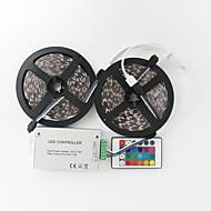 ZDM™ 10 M 600 5050 SMD RGB Kuttbar / Fjernkontroll / Passer for kjøretøy / Selvklebende / Fargeskiftende 144 W RGB-lysstriper DC12 V