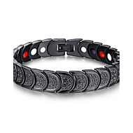 Men's Jewelry Health Care Black Stainless Steel Magnetic Therapy Bracelet Fashion Gift