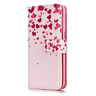 Λατρεύω λουλούδι μοτίβο εννέα κάρτες ανάγλυφο PU υλικό δερμάτινη θήκη τηλέφωνο για Galaxy S3 / S4 / S5 / S6 / S6 άκρη / S7 / S7 άκρη