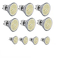 10PCS GU10/E27/MR16  60SMD 3528 2835 LED Warm White /White Spot Light Bulb Lamp 3W Energy Saving