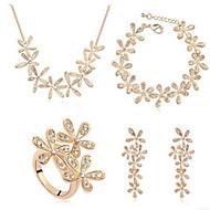 Dames Sieraden Set Bruidssieradensets Kristal Birthstones Geboortestenen Kristal Kettingen Oorbellen Ringen Ketting Armband Ring Voor