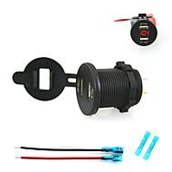 iztoss 2.1A& 電圧計の光と15センチメートルコード付き2.1AデュアルUSB充電器携帯電話の充電器の電源ソケット