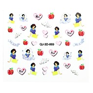 10pcs lovely  The Princess A Series Of Nail Art Since The Glue The 3D Stickers Applique