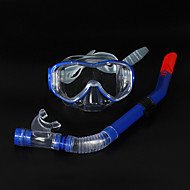 Máscaras de mergulho-Azul / Preta-PVC / Silicone