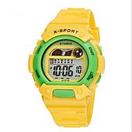 SYNOKE Dziecięce Sportowy Zegarek na nadgarstek Zegarek cyfrowy Cyfrowe LCD Kalendarz Chronograf Wodoszczelny alarm Świecący Guma Pasmo