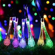 Solar Fairy String Lights 6.5m/23ft 30 LED Crystal Water Drop Decorative Gardens, Lawn, Patio, Christmas Trees, Weddings