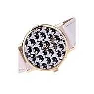 Women's Fashion Watch Casual Watch Casual Watch Quartz Japanese Quartz Leather Band Black White Brown Multi-Colored
