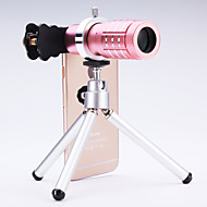Universal 12× Telescope Lens for Mobile Phones iphone/samsung Silver/Gold/Rose/Black