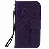 Per Samsung Galaxy Custodia A portafoglio / Porta-carte di credito / Con supporto / Con chiusura magnetica / Decorazioni in rilievo