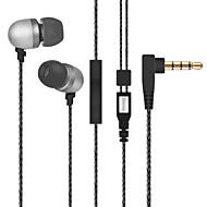 Diomix Earphones with Universal Built-in Microphone Metal Headphones for iPhone 6/6S Plus, iPad, Samsung, Nexus and more
