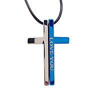 amarte sencilla cruz collar de unos biblia colgante collar de titanio
