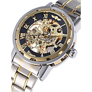 WINNER® Men's Watch Automatic Self-winding Mechanical Golden Skeleton Stainless Steel Cool Watch Unique Watch