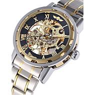 Hombre Reloj de Pulsera / El reloj mecánico Cuerda Automática Huecograbado Acero Inoxidable Banda Plata Marca