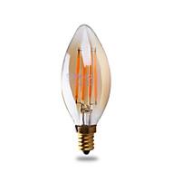 3W E12 Luces LED en Vela B 4 COB ≥300 lm Blanco Cálido Regulable / Decorativa AC 110-130 V 1 pieza