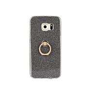 Varten Samsung Galaxy S7 Edge Sormuksen pidike Etui Takakuori Etui Kiiltävä Pehmeä TPU SamsungS7 edge / S7 / S6 edge plus / S6 edge / S6