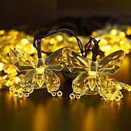 Solar Fairy String Lights 11m/33ft 60 LED Butterfly Decorative Gardens, Lawn, Patio, Christmas Trees, Weddings